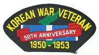 KOREAN WAR 50TH ANN PATCH