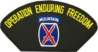 10TH MOUNTAIN OP ENDURING FREEDOM VET PATCH