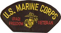 US MARINE CORPS IRAQI FREEDOM VET PATCH
