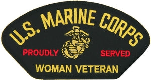 US MARINE CORPS WOMAN VETERAN PATCH