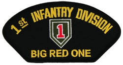 "1ST INF DIV ""BIG RED ONE"" HAT - HATNPATCH"