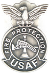 USAF FIRE PROTECTION BADGE HAT PIN - HATNPATCH