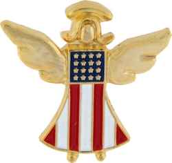 AMERICA IS MY GUARDIAN ANGEL HAT PIN