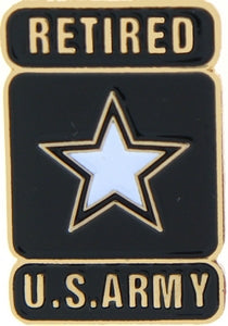 US ARMY RETIRED STAR HAT PIN