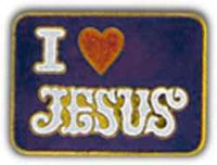 I LOVE JESUS PIN