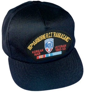 "187TH AIRBORNE R.C.T ""RAKKASANS"" KOREAN WAR VET HAT"