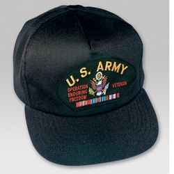 US ARMY OEF VETERAN HAT W/RIBBONS - HATNPATCH