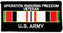 Operation Enduring Freedom Veteran US Army Patch - HATNPATCH