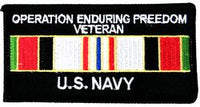 Operation Enduring Freedom Veteran US Navy Patch - HATNPATCH