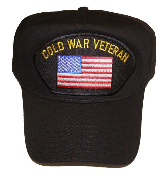 COLD WAR VETERAN HAT WITH US FLAG - HATNPATCH