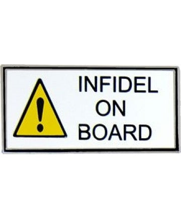 INFIDEL ON BOARD HAT PIN - HATNPATCH