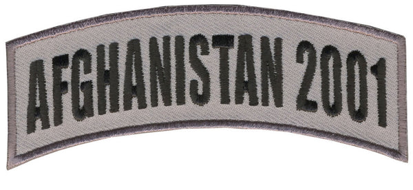 AFGHANISTAN 2001 TAB ROCKER PATCH