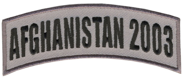 AFGHANISTAN 2003 TAB ROCKER PATCH