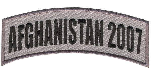 AFGHANISTAN 2007 TAB ROCKER PATCH7 - HATNPATCH