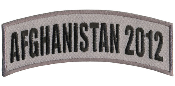 AFGHANISTAN 2012 TAB ROCKER PATCH - HATNPATCH