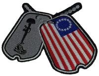 PATRIOTIC DOG TAGS COMBAT VET RIDERS Patch - HATNPATCH