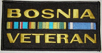 Bosnia Veteran w/Ribbons Black Patch - Medium