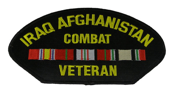 IRAQ AFGHANISTAN COMBAT VETERAN WITH RIBBONS JACKET PATCH