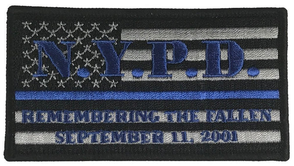 NYPD SEPTEMBER 11, 2001 THIN BLUE LINE PATCH