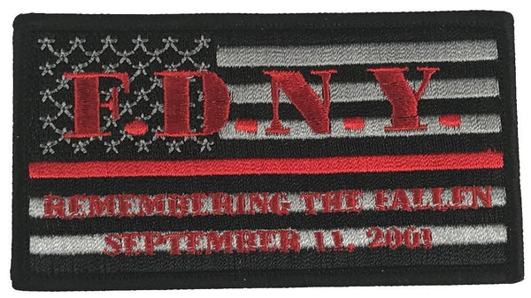 FDNY SEPTEMBER 11, 2001 THIN RED LINE FIREFIGHTER PATCH