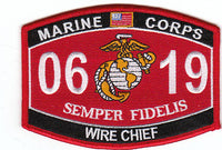 US Marine Corps 0619 Wire Chief MOS Patch