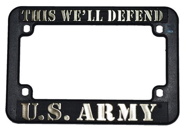 U.S. Army Heavy Plastic Motorcycle License Plate Frame - HATNPATCH