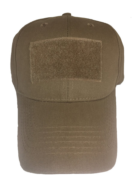 BLANK VELCRO PATCH HAT - Coyote Brown - HATNPATCH