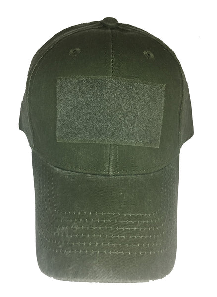 BLANK VELCRO PATCH HAT - Olive Drab Green
