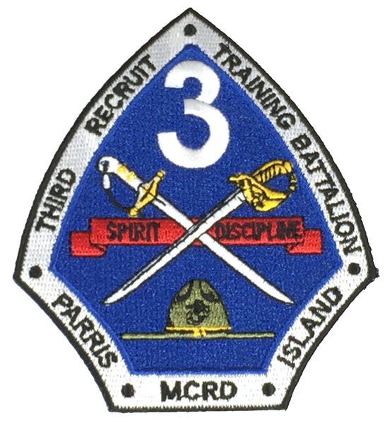 3RD RECRUIT TRAINING BATTALION MCRD PARRIS ISLAND Patch - HATNPATCH