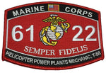 USMC Marine Corps 6122 T-58 Mech MOS Military Patch