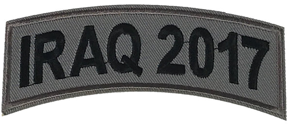 IRAQ 2017 TAB ROCKER PATCH - HATNPATCH
