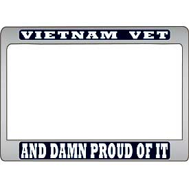 Vietnam Vet And DAMN PROUD OF IT MC License Plate Frame - HATNPATCH