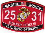 US Marine Corps 2531 Field Radio Operator MOS Patch
