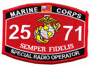 US Marine Corps 2571 Special Radio Operator MOS Patch