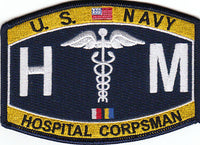 United States Navy Deck Hospital Corpsman Ratings Patch HM - HATNPATCH