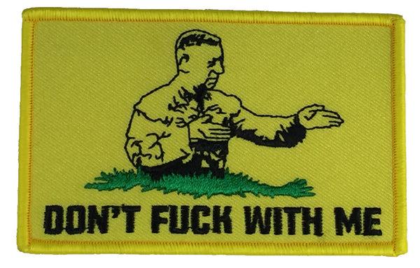 DON'T F WITH ME GENERAL MATTIS GADSDEN FLAG PATCH