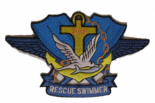 NAVY SAR Search & Rescue Swimmer Badge Military Patch - HATNPATCH