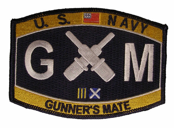 Navy Weapons Specialty Rating Gunners Mate Military Patch GM - HATNPATCH