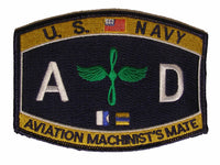 NAVY Aviation Engineering Rating Machinist Mate Patch AD - HATNPATCH