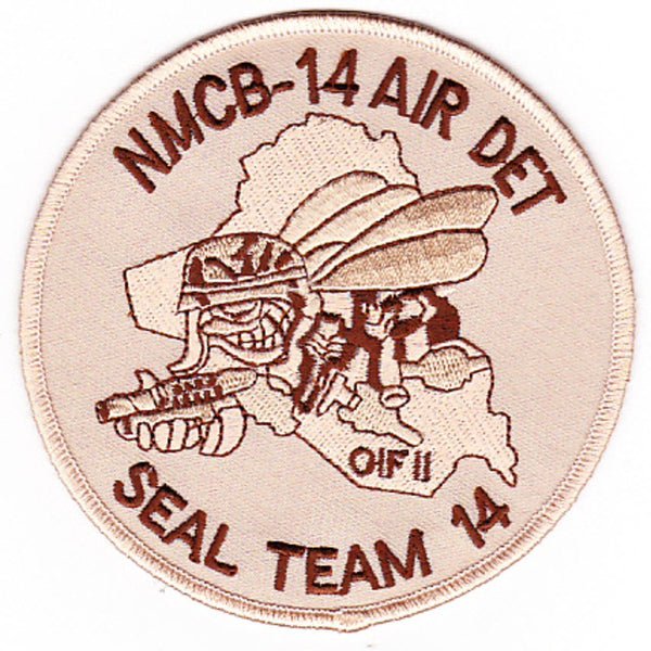 NMCB-14 AIR DET SEAL TEAM 14 OIF SEABEE PATCH