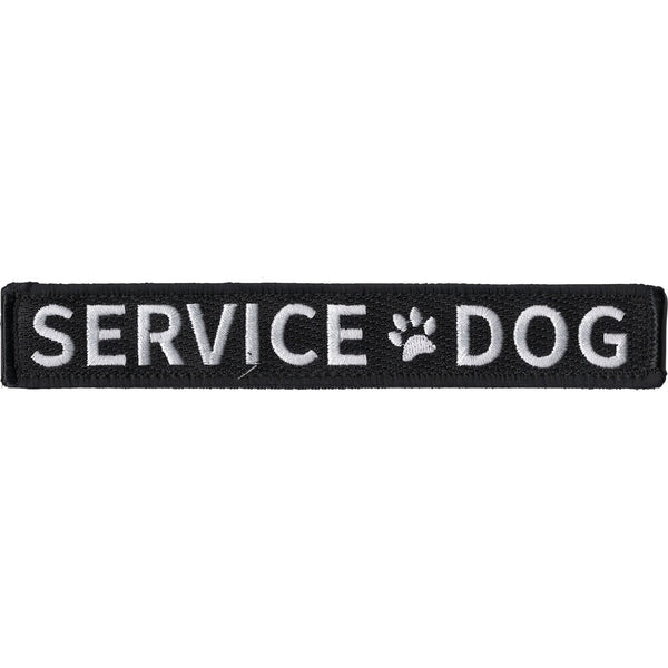 SERVICE DOG WITH PAW PRINT PATCH HOOK AND LOOP BACKING