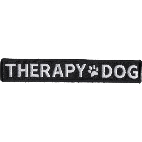 THERAPY DOG WITH PAW PRINT PATCH HOOK AND LOOP BACKING