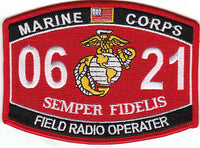 US Marine Corps 0621 Field Radio Operater MOS Patch