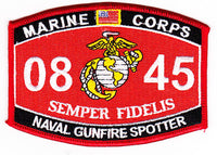 US Marine Corps 0845 Naval Gunfire Spotter MOS Patch - HATNPATCH