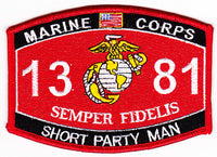 US Marine Corps 1381 Short Party Man MOS Patch - HATNPATCH