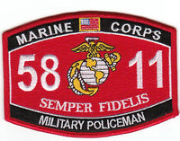 US Marine Corps 5811 Military Policeman MOS Patch - HATNPATCH