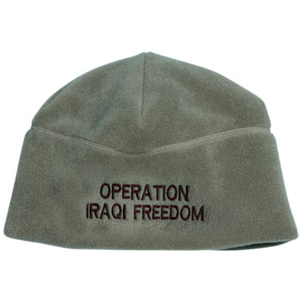 ACU Fleece Beanie w/ Embroidered Operation Iraqi Freedom