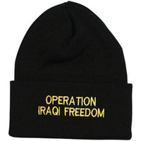 """Operation Iraqi Freedom"" Direct Embroidered Watch Cap - HATNPATCH"