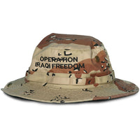Operation Iraqi Freedom Direct Embroidered ACU Boonie Hat - HATNPATCH