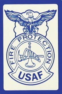 USAF Fire Protection Small Sticker